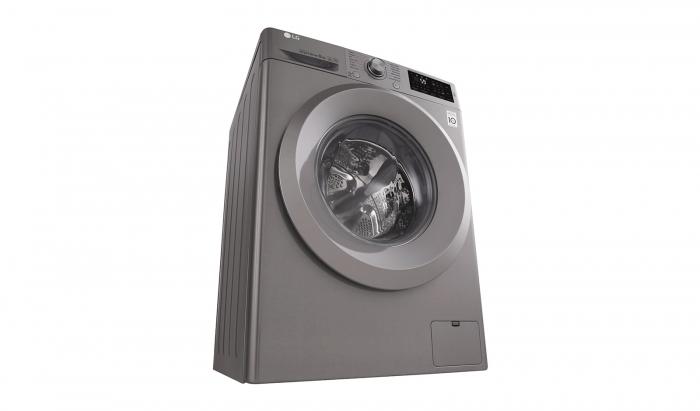 Masina de spalat rufe LG F4J5TN7S, Direct Drive, 8 kg, A+++, Argintiu 2