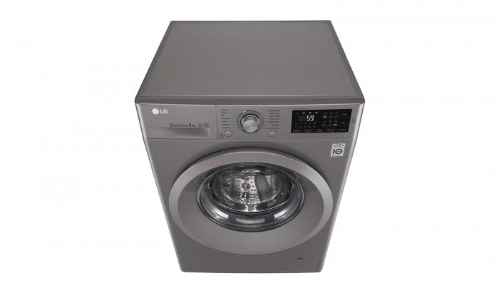 Masina de spalat rufe LG F4J5TN7S, Direct Drive, 8 kg, A+++, Argintiu 9