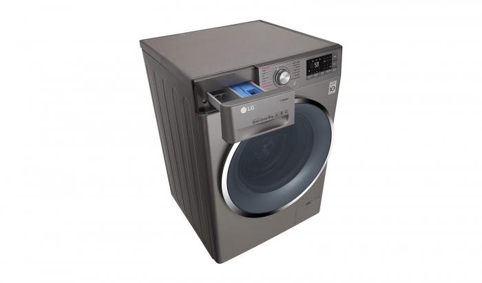 Masina de spalat rufe LG F4J7VY2S, 9 kg, Clasa A+++, Argintiu 4