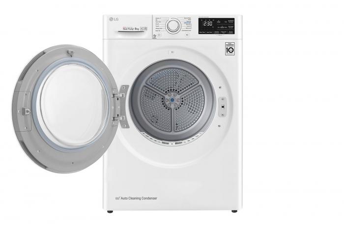 Uscător LG RC80U2AV4D, Pompă de căldură Dual Inverter, 8kg, Clasa A+++, EcoHybrid, Wifi 1