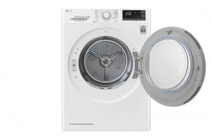 Uscător LG RC80U2AV4Q, Pompă de căldură Dual Inverter, 8kg, Clasa A+++, EcoHybrid, Wifi [2]