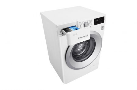 Mașină de spălat LG F4J5VN4W, 9Kg, 6 Motion DD, 10 ani garanție, Clasa A+++, NFC Smart ThinQ6