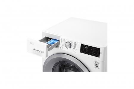 Mașină de spălat LG F4J5VN4W, 9Kg, 6 Motion DD, 10 ani garanție, Clasa A+++, NFC Smart ThinQ3