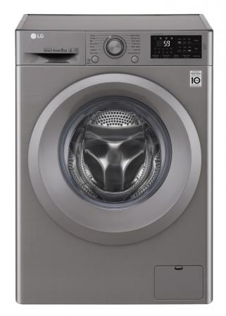 Masina de spalat rufe LG F4J5TN7S, Direct Drive, 8 kg, A+++, Argintiu0
