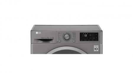 Masina de spalat rufe LG F4J5TN7S, Direct Drive, 8 kg, A+++, Argintiu6