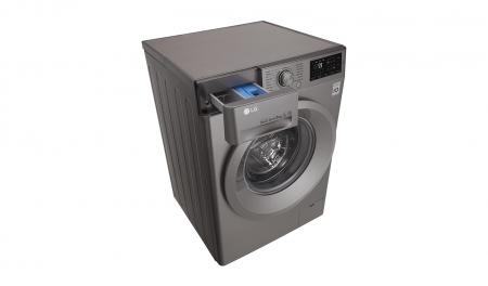 Masina de spalat rufe LG F4J5TN7S, Direct Drive, 8 kg, A+++, Argintiu8