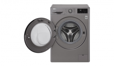Masina de spalat rufe LG F4J5TN7S, Direct Drive, 8 kg, A+++, Argintiu1