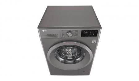 Masina de spalat rufe LG F4J5TN7S, Direct Drive, 8 kg, A+++, Argintiu9