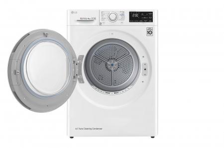 Uscător LG RC80U2AV4D, Pompă de căldură Dual Inverter, 8kg, Clasa A+++, EcoHybrid, Wifi1