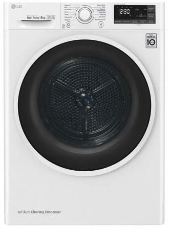 Uscător LG RC80U2AV4Q, Pompă de căldură Dual Inverter, 8kg, Clasa A+++, EcoHybrid, Wifi