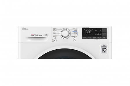 Uscător LG RC80U2AV4Q, Pompă de căldură Dual Inverter, 8kg, Clasa A+++, EcoHybrid, Wifi [4]