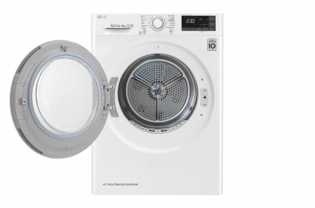 Uscător LG RC80U2AV4Q, Pompă de căldură Dual Inverter, 8kg, Clasa A+++, EcoHybrid, Wifi [1]