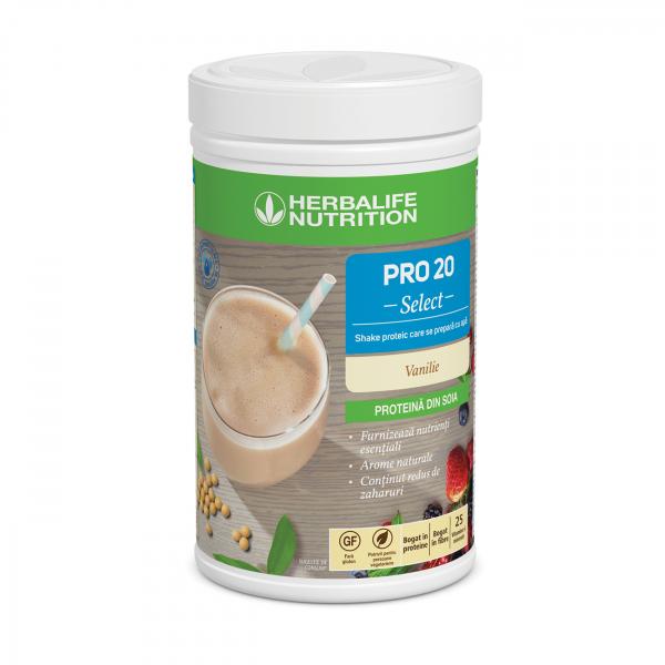 PRO 20 Select - Shake proteic care se prepară cu apă Vanilie 630 g [0]