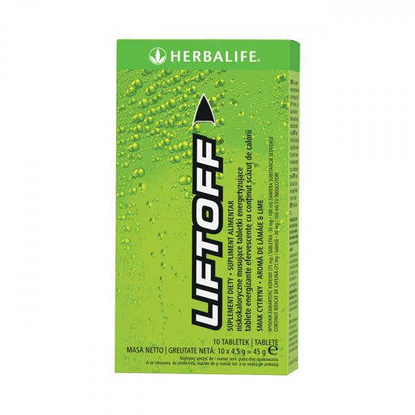 LiftOff® Efervescent Băutură energizantă Lămâie-lime 10 tablete per cutie [0]