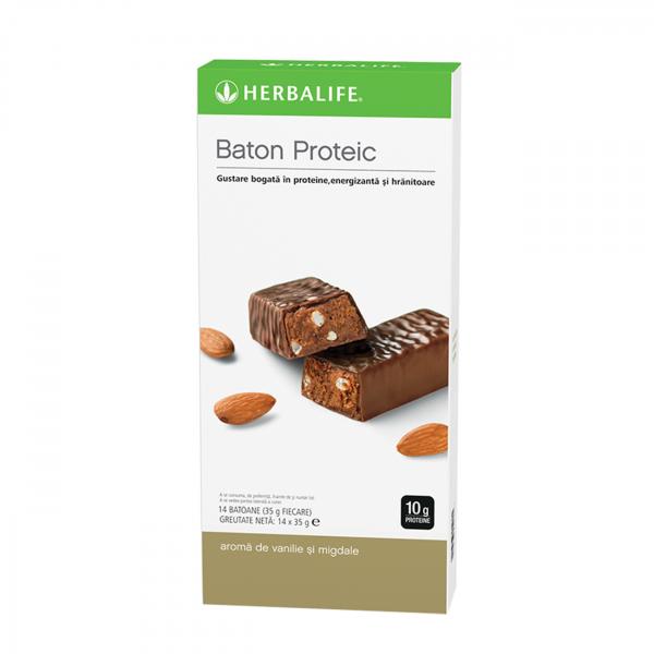 Batoane proteice Vanilie și migdale 14 batoane per cutie [0]