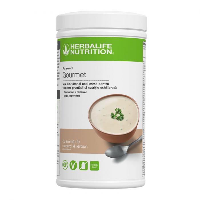 Formula 1 Gourmet Shake mix nutritiv ciuperci și ierburi 550g [0]