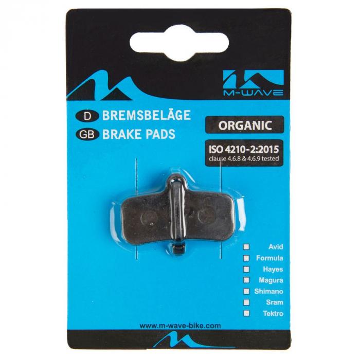 Placute de frana organice M-Wave S2(Shimano Saint BR-M810/820 / ZEE BR-M640) 1