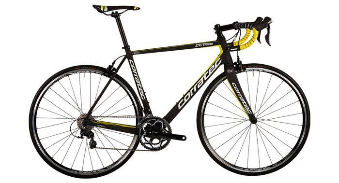 Bicicleta CORRATEC CCT Team Ultegra carbon mat/galben/alb 570mm 0