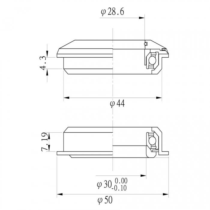 Cuvete semi integrate Tange aluminiu 2