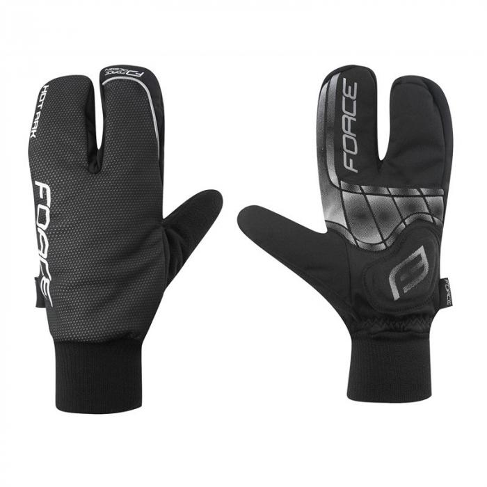Manusi iarna Force Hot Rak 3 degete negre 0