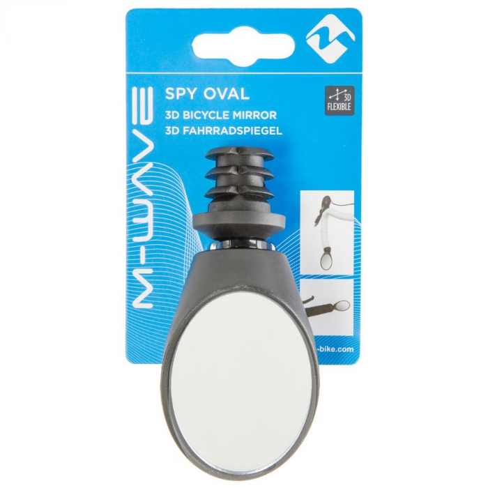 Oglinda Bicicleta M-WAVE 3D SPY OVAL [1]