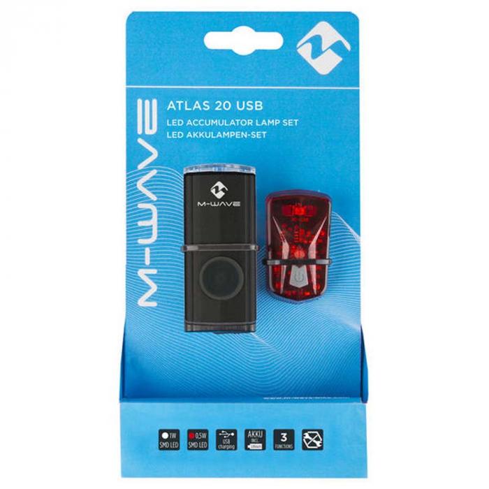 Set lumini cu acumulator Atlas 20 USB 1