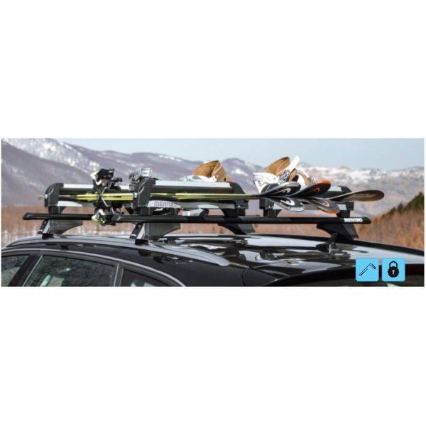 Suport ski/snowboard Menabo Iceberg 4 pe bare transversale, 4 perechi ski / 2 snowboard 4