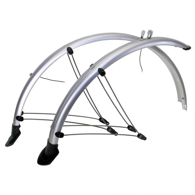 Aparatori flexible M-wave, bicicleta 28, silver 0