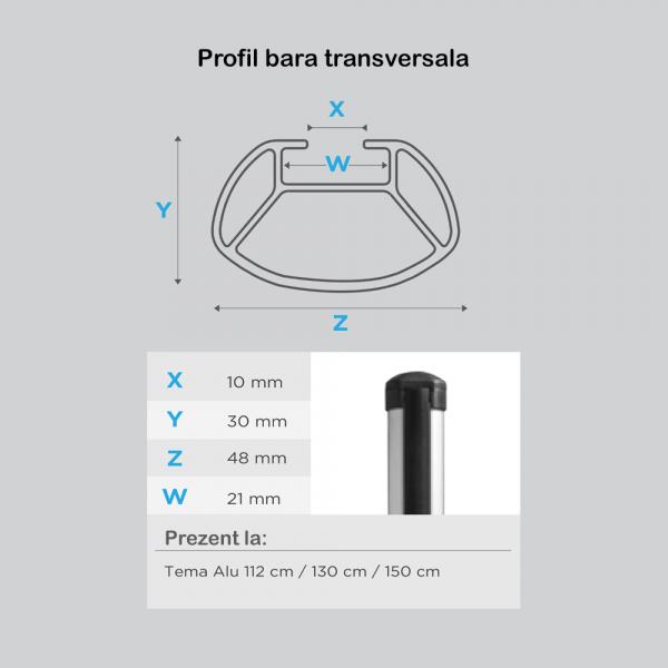 Bare transversale Menabo Tema Aluminiu pentru Volkswagen Caddy (2K) Life/Maxi/Van, model 2004-2015 3