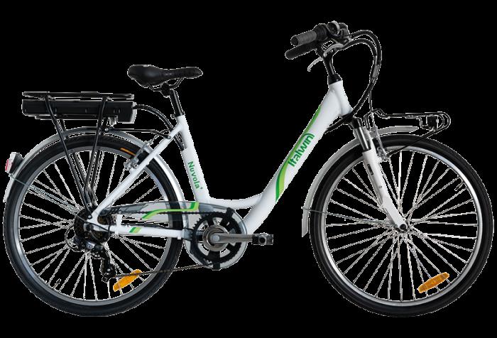 "Bicicleta ITALWIN NUVOLA4 eBIKE 24x1.75""  Autonomie 65 km Alb-verde [0]"