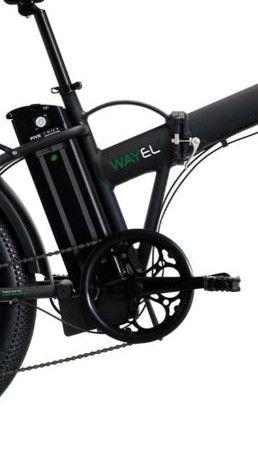 "Bicicleta Pliabila FAT e-Big WAYEL E-BIKE 20x4"" Sabbia Autonomie 75 km negru-verde 1"