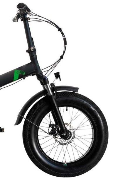 "Bicicleta Pliabila FAT e-Big WAYEL E-BIKE 20x4"" Sabbia Autonomie 75 km negru-verde 2"