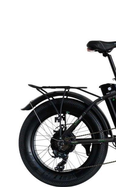 "Bicicleta Pliabila FAT e-Big WAYEL E-BIKE 20x4"" Sabbia Autonomie 75 km negru-verde 4"