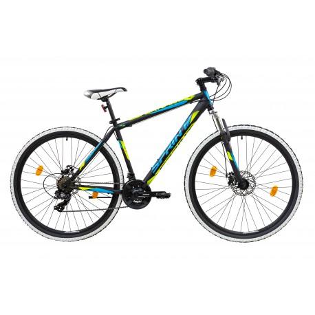 Bicicleta Sprint Tornado DD 29 480mm Negru/Verde mat 2019 0
