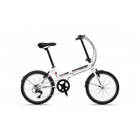 Bicicleta Sprint Traffic 20 Pliabila Alb Lucios 2019 0