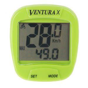 """Bike Computer VENTURA """"X"""" 10 Functii Verde 0"""