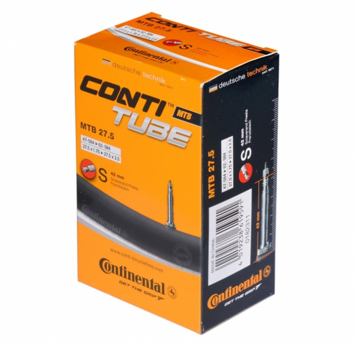 Camera bicicleta Continental MTB 27.5 Auto / Presta47/62-584 0