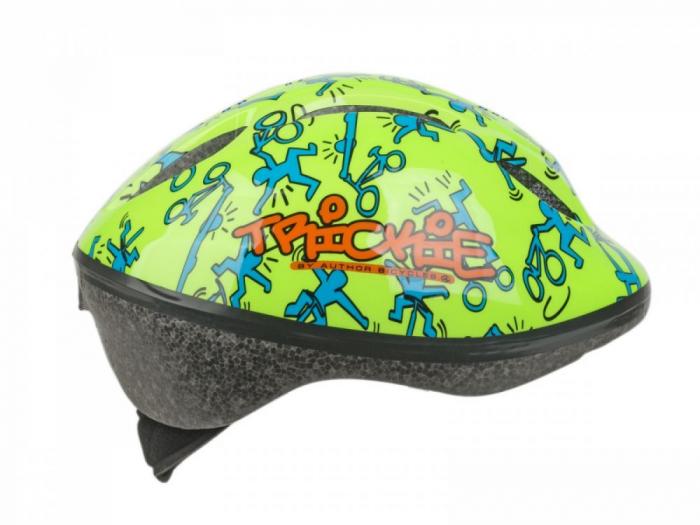 Casca Ciclism AUTHOR Trickie 49-56 cm Verde/Albastru 3