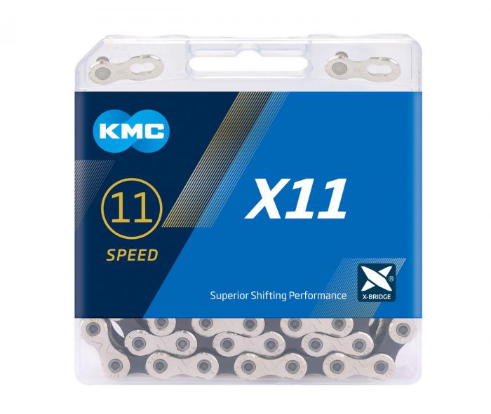 Lant KMC X11, 114zale, argintiu-negru [0]