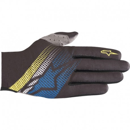Manusi Alpinestars Predator black/royal blue/acid yellow 0