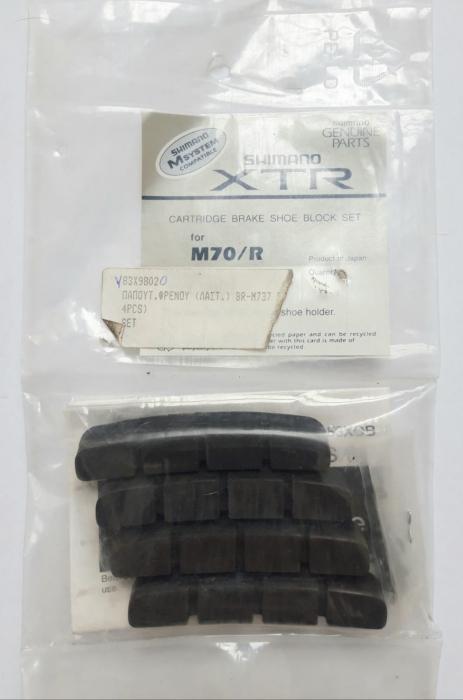 Rezerve saboti de frana Shimano XTR BR-M70/R, 4 bucati 0