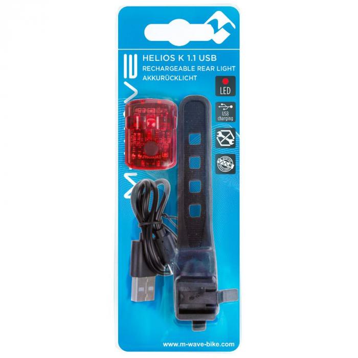 """Stop Spate cu Acumulator M-WAVE """"Helios K 1.1 USB SL"""" [2]"""