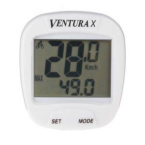 Kilometraj / Computer Ventura X, 10 functii, cu fir, alb0