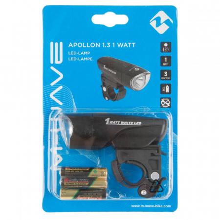 """Far cu Baterii M-WAVE """"APOLLON 1.3 1 WATT""""1"""