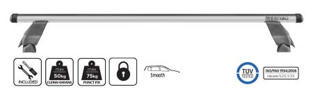 Bare transversale Menabo Tema Aluminiu pentru Volkswagen Caddy (2K) Life/Maxi/Van, model 2004-20150