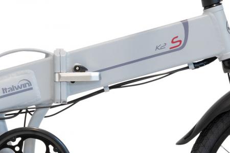 """Bicicleta eBIKE Pliabila ITALWIN K2S 20x1.95"""" Autonomie 60 km gri [1]"""