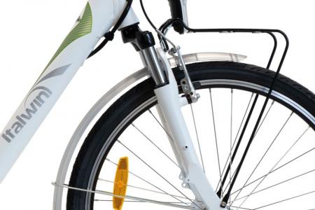 "Bicicleta ITALWIN NUVOLA4 eBIKE 24x1.75""  Autonomie 65 km Alb-verde [1]"