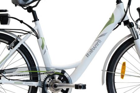 "Bicicleta ITALWIN NUVOLA4 eBIKE 24x1.75""  Autonomie 65 km Alb-verde [2]"