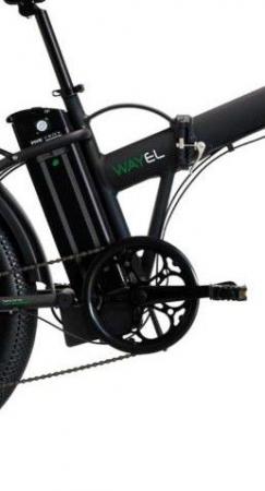 "Bicicleta Pliabila FAT e-Big WAYEL E-BIKE 20x4"" Sabbia Autonomie 75 km negru-verde1"