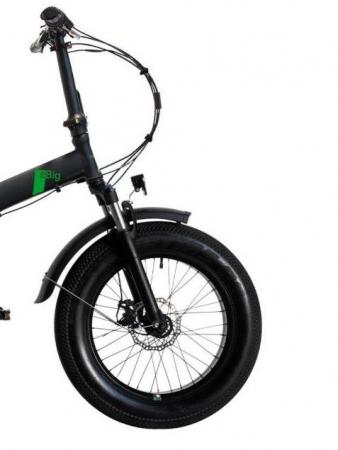 "Bicicleta Pliabila FAT e-Big WAYEL E-BIKE 20x4"" Sabbia Autonomie 75 km negru-verde2"